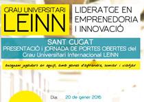 Grau Universitari LEINN: Portes Obertes 20/01/2016